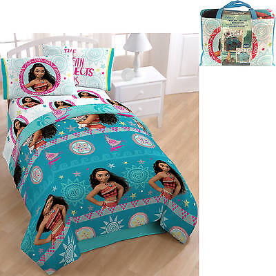Moana Disney Twin Comforter Childrens Bedding Set w Sheets Pillowcase and Tote