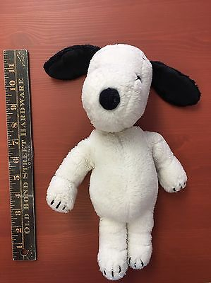 "Vintage 1968 Original Snoopy Dog Plush Stuffie 11"" Tall Doll"