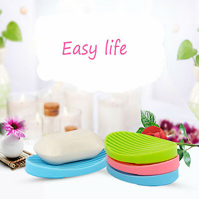 Silicone Kitchen Sink Sponge Holder Soap Box Clean Soap Dishes Soap Rack