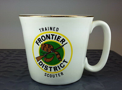 Vtg. Boy Scouts California Coffee Mug Trained Scouter Frontier District B.S.A.
