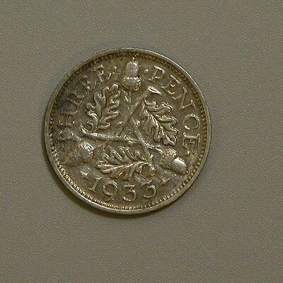 1933 Great Britain George V Silver Three Pence