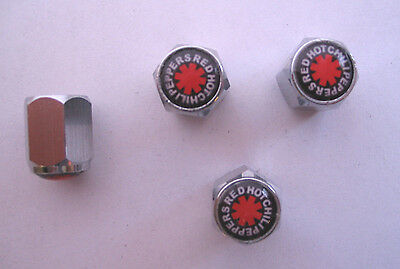 Red Hot Chili Peppers Tire Valve Stem Caps, Chilli Peppers Logo Tire Caps, RHCP