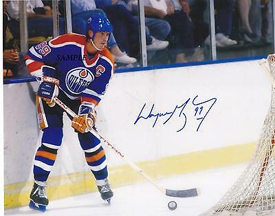 Wayne Gretzky #1 Reprint Autographed Signed Picture Photo Edmonton Oilers Kings