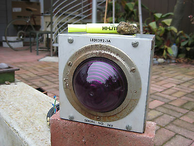 Purple Glow Lens Automated Signal Indicator Light:  1970s, Laboratory, Factory