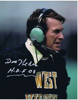 DON NEHLEN SIGNED AUTOGRAPHED 8x10 - West Virginia Mountaineers - CFB H.O.F.