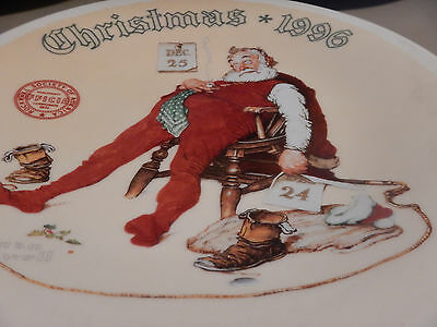 Christmas 1996 Norman Rockwell Collector Plate