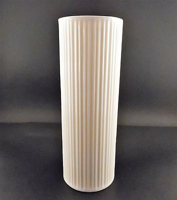 Lenox USA Ivory with Gold Trim Ribbed Cylindrical Vase Excellent Condition
