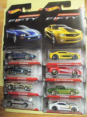 2017 Hot Wheels Wal-Mart Exclusive Camaro Fifty Complete Set of 8 *4 avail