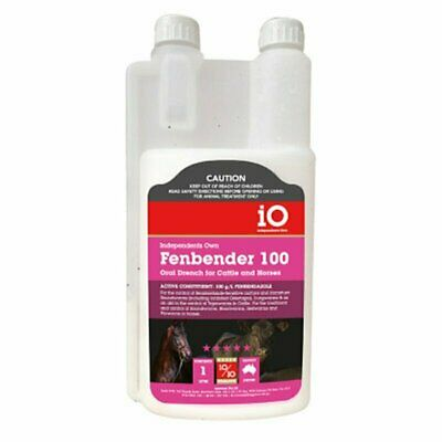 Cattle Horse wormer iO Fenbender 100 Oral anthelmintic 1L equiv.Panacur 100  1lt