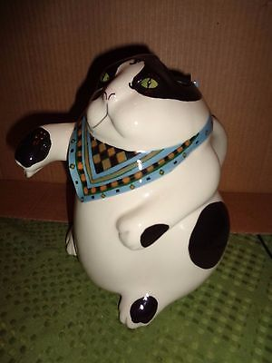 Vintage Animals & Co. Black & White Kitty Cat Pitcher 1984