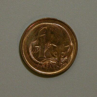 1987 Australia Feather Tailed Glider One Cent - BU RED
