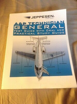 Jeppesen A&P Technician General Guide & Practical Study Guide 10002000-007 Book