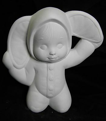 Ceramic Bisque Ready to Paint Large Bunny Tot Baby