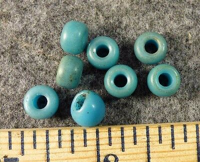 (8) Original Padre Indian Trade Beads Sky Blue Chief Beads Fur Trade Era
