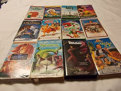 Lot of 12 - Kid's VHS Movies (#2)