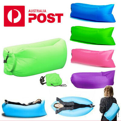 2017 Beach Lazy Air Bag Sofa Bed Fast Inflatable Beach Lounge Camping Bed
