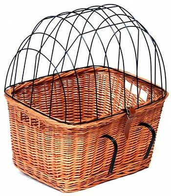 Handmade Wicker/Rattan Bicycle Pet Carrier for Cat and Dog - ( Natural ) NEW