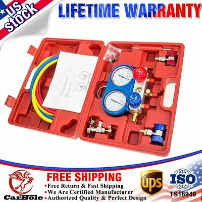 R134A HVAC A/C Refrigeration Kit AC Manifold Gauge Set Auto Service Kit Tool R12