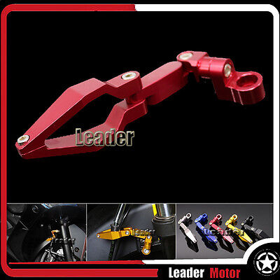 For KAWASAKI Z250 Z750 Z750R Z800 Z1000 Z1000SX Z 800 Brake Line Clamp Red