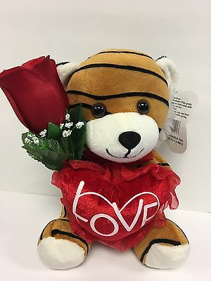 "8"" BrownTiger Plush ""LOVE "" Heart 