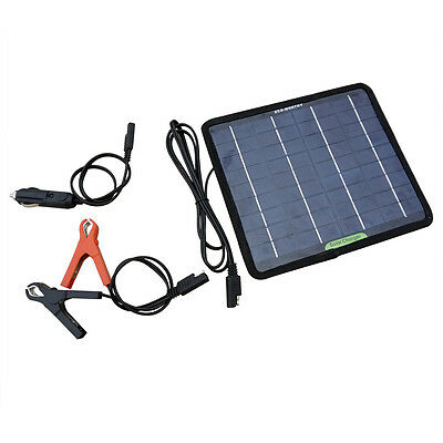 18V 5W Portable Solar Panel Kit for RV Car Motorcycle Battery Trickle Charger