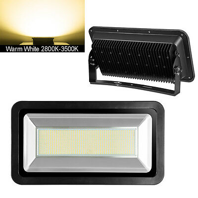 500W Warm White LED SMD Flood Light Outdoor Security Floodlights Lamp IP65 240V