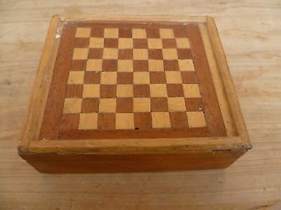 Vintage Old Small Size Timber Games Box, Old Box