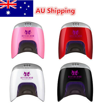 48W 24pcs LED Nail Lamp Nail Dryer Timer Gel Polish Curing Manicure Machine AU