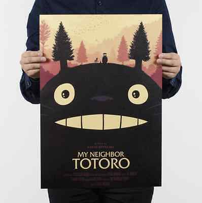 My Neighbor Totoro Wall Poster Wall Decals Kraft Paper Poster Movie Poster