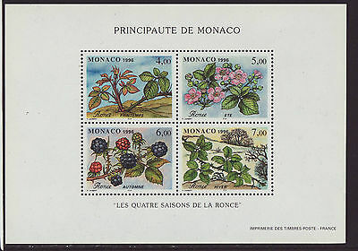 Monaco 1996 MNH - Berries and trees - m/sheet of 4 stamps