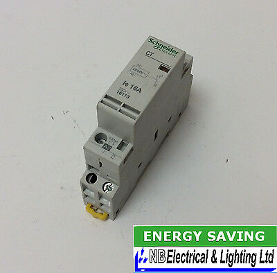 Schneider Contactor 16 Amp Single Pole Normally Open 230V Coil To Clear (Jl43)