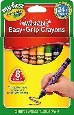 Crayola My First Washable Triangular Crayons - 8 pack in 8 different colours