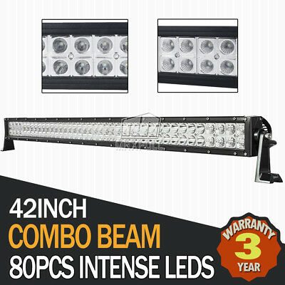 """42""""Inch 400W PHILIPS Led Work Light Bar Spot Flood Offroad Driving Lamp ATV Jeep"""