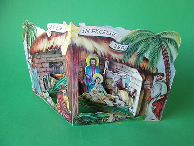 Vintage Christmas Nativity Paper Set From The 40's 1942 Made In U.s.a. New
