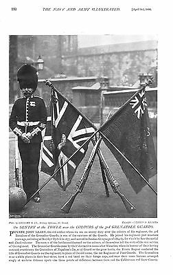 1896 ON SENTRY AT THE TOWER, COLOURS OF 3rd GRENADIER GUARDS