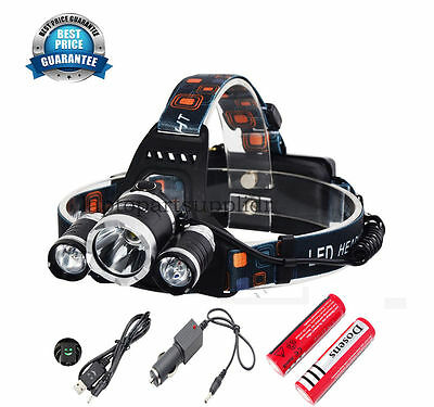Fishing Rechargeable CREE T6 LED Headlight, Super-bright Running Head Torch UK