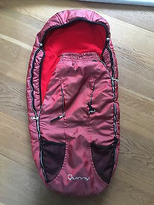 Quinny Red Cosy Toes Buggy Bag Footmuff