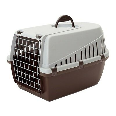 Trotter 3 Pet Dog Cat Rabbit Carrier Airline Approved Brown/Grey 60.5x40.5x39cm