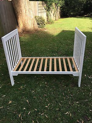 Toddler Bed (cot conversion) White, Sturdy, Great Makeover Project