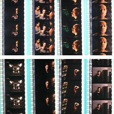 RARE - 8 x 35mm Film Cells - The Matrix (1999) Keanu Reeves & Agent Smith