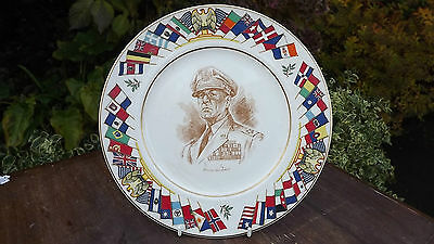 General McArthur  World War 2 Plate USA Allied Nations Commemorative Series