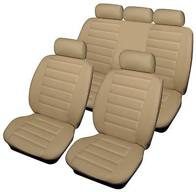 For Nissan Leaf  - Full Set of Luxury BEIGE Leather Look Car Seat Covers