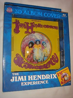 """JIMI HENDRIX superb """"Are You Experienced"""" 3D album cover wall display, boxed NEW"""