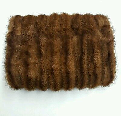 Vintage Fur Hand Warmer/ Muff with pocket GOOD CONDITION