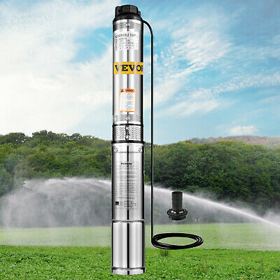 370w Submersible Bore Water Pump Deep Well Irrigation 6 Impellers Electric 240V