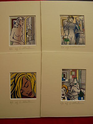 LOT 4 ROY LICHTENSTEIN -  LITTLE  - print with passepartout ------ R -