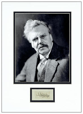G K Chesterton Autograph Signed Display - Father Brown - AFTAL  UACC RD