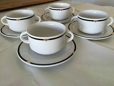 Vintage Hutschenreuther HOTEL Germany Double Handled Large Cup/ Dish Serves 4