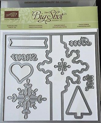 Stampin Up Big Shot Sizzix Snowflake Card Thinlits Die Retired NEW