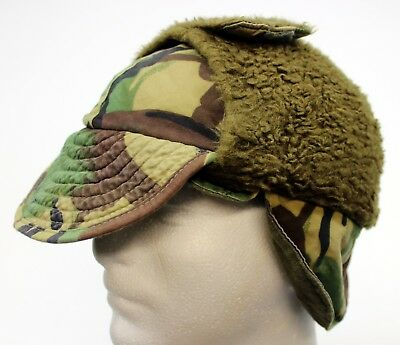 GENUINE BRITISH ARMY FALKLANDS COLD WEATHER FIELD HAT in WOODLAND CAMO a6ae1732462